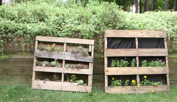 Make the Most of Your Patio Space with a Pallet Garden!