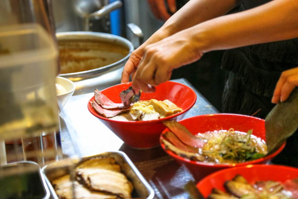 chef preparing ramen