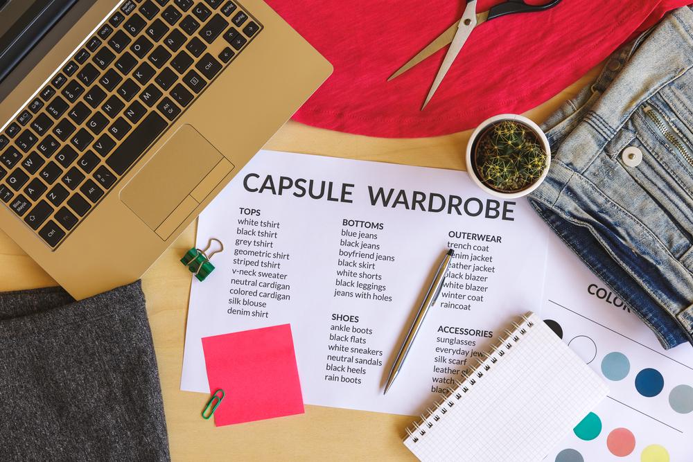 a capsule wardrobe