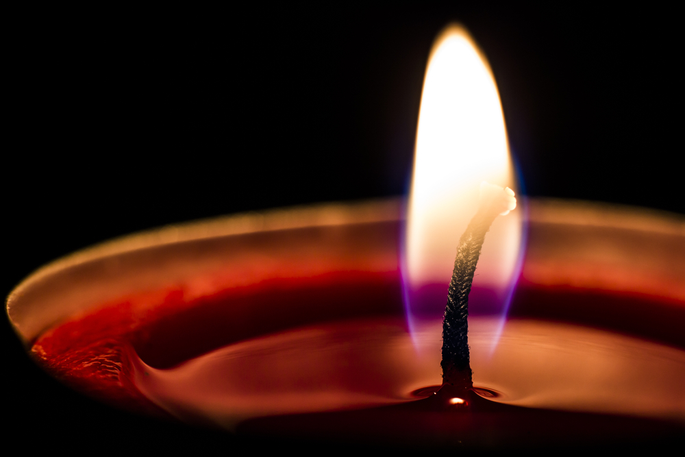 a close-up of a candle