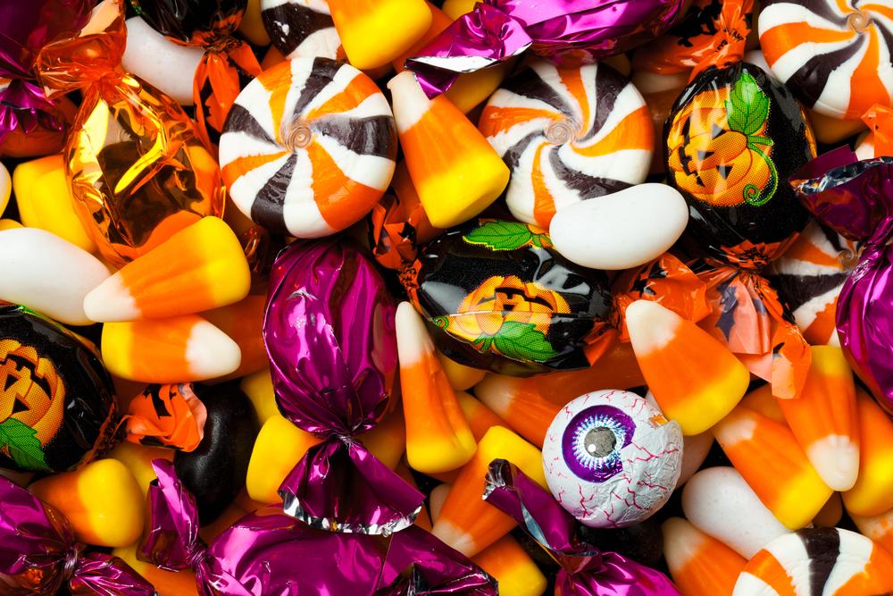 an assortment of candies