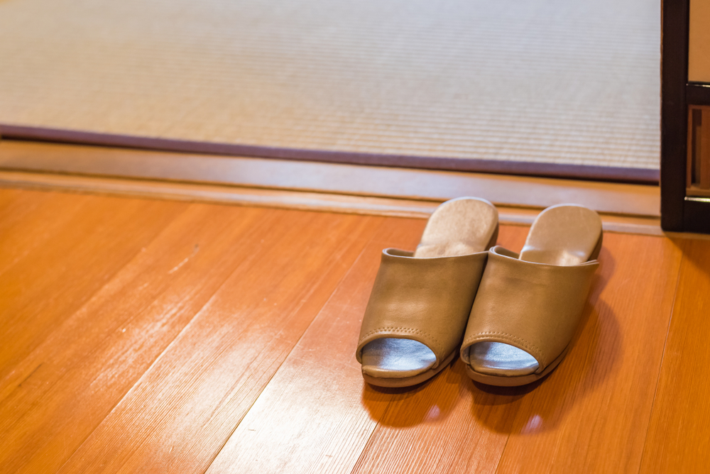 leaving shoes at the door