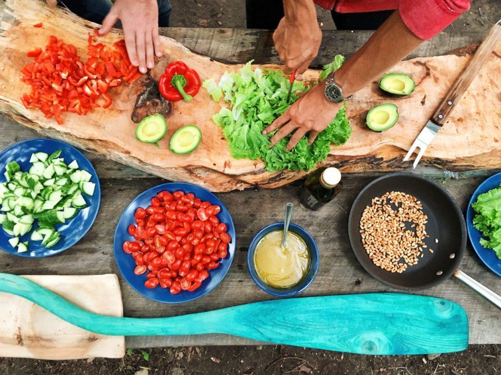 preparing tacos