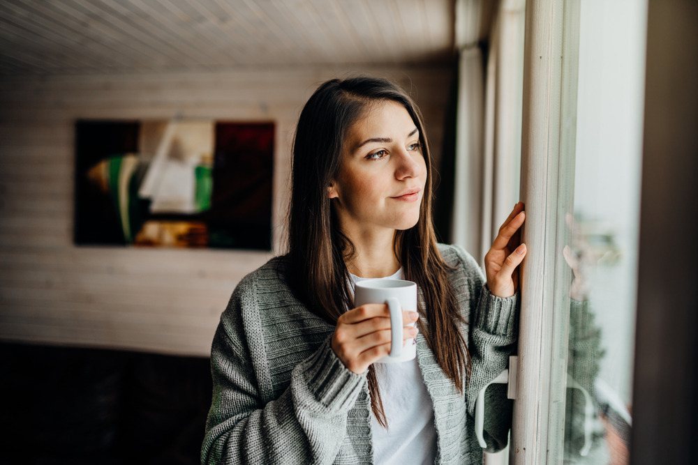 staying indoors with tea