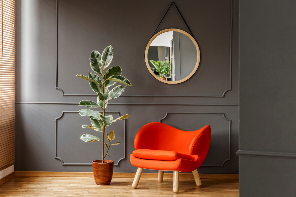 rounded furniture in an apartment