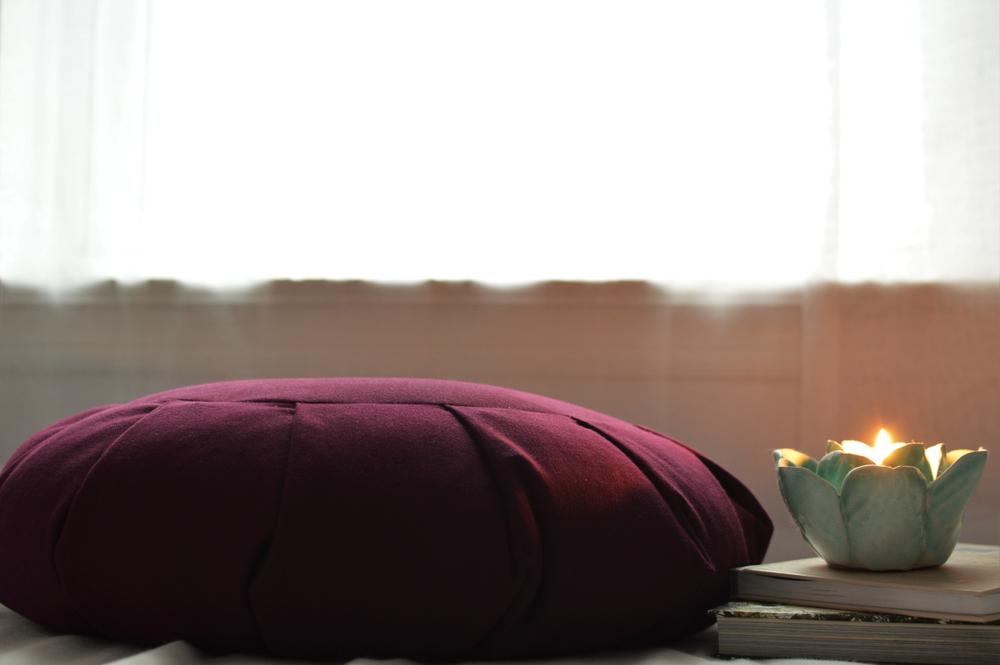 a meditation pillow