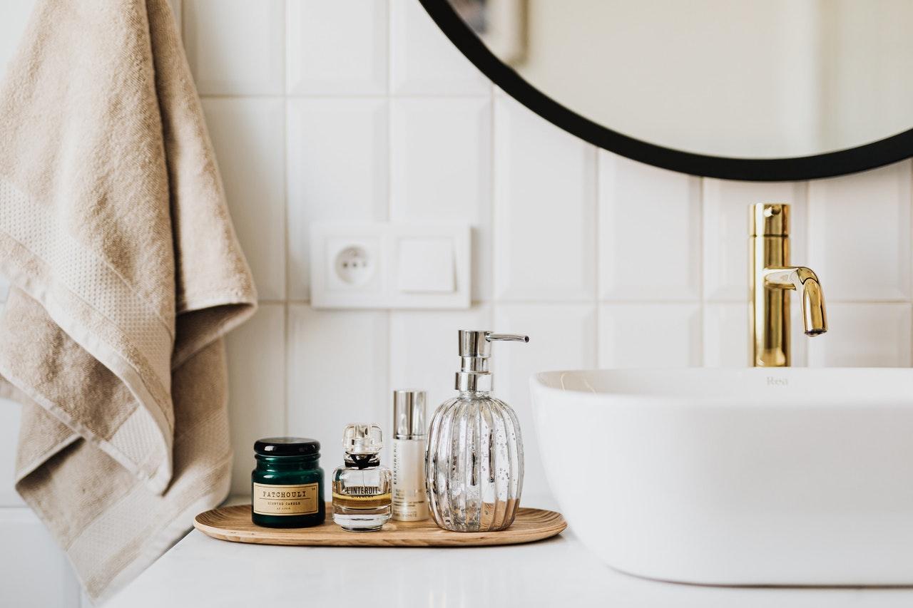 a stylish bathroom
